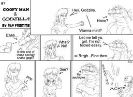 Goofy Man and Godzilla 7 by AlmightyRayzilla
