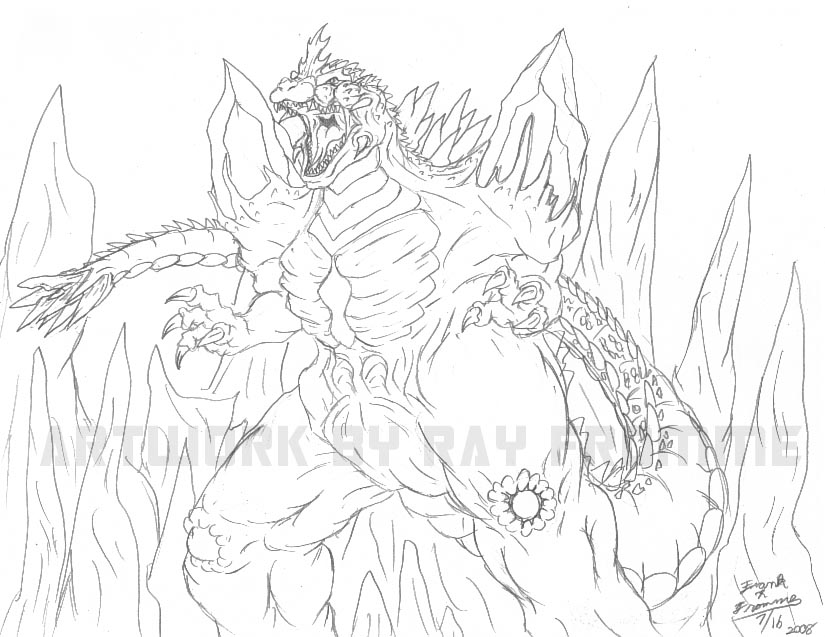 space godzilla coloring pages coloring pages
