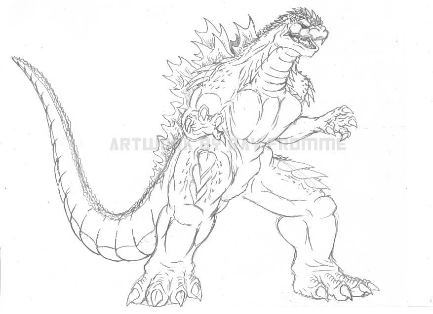 Godzilla Fan-Fic sketch by AlmightyRayzilla on DeviantArt