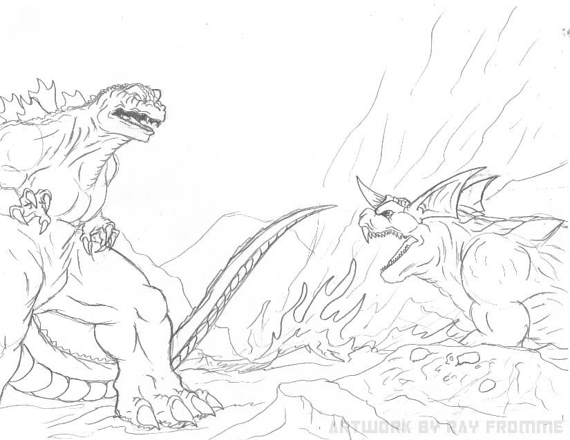 Coloring Pages Godzilla - Democraciaejustica