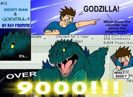Goofy Man and Godzilla 12 by AlmightyRayzilla