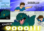 Goofy Man and Godzilla 12 by AlmightyRayzilla