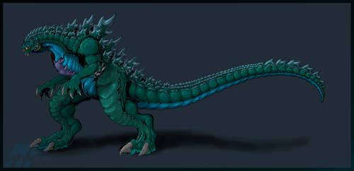 Legendary Godzilla colors by AlmightyRayzilla