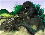 Godzilla vs Anguirus colors