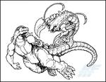Commission - Godzilla and Ebirah by AlmightyRayzilla