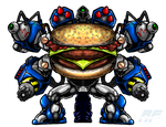 Commission - MECHABURGER PRIME by AlmightyRayzilla