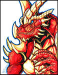 Fierodon Marker Sketch by AlmightyRayzilla