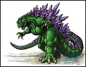 Godzilla 2000 marker sketch
