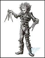 Inktober Stuff 3 - Edward Scissorhands by AlmightyRayzilla