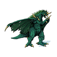 Powered Kaiju - THE WINGED MONSTER by AlmightyRayzilla