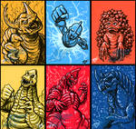 G-Fest 2016 Goodies pt 3 - Sketch Cards by AlmightyRayzilla