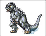 Commission - Minilla marker sketch by AlmightyRayzilla