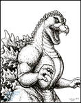 Best of Inktober 2016 - Godzilla 1989