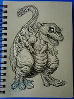 Graytone chibi Shin-Godzilla by AlmightyRayzilla