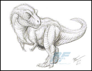 Rexy Sketchy by AlmightyRayzilla