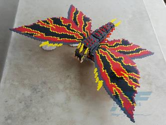 3D Perler Bead Battra by AlmightyRayzilla