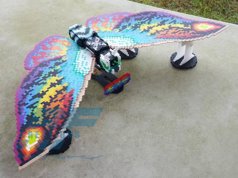 3D Perler Bead Rainbow Mothra Leo