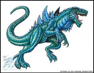 Godzilla 1998 marker sketch