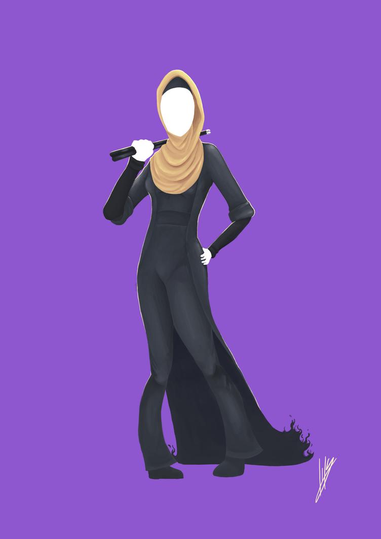 Firey Rockin' Out Hijab by Blakant