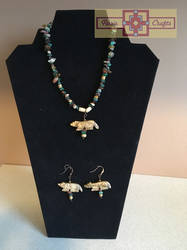 Artisan Tribes Coyote Jewelry Set by rosiecrafts