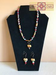 Artisan Tribes Spirit Raccoon Jewelry Set by rosiecrafts