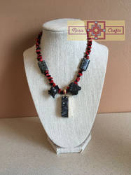 Artisan Tribes Obsidian Necklace by rosiecrafts