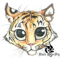 BIG eyed Tiger Cub by Devilsinc53
