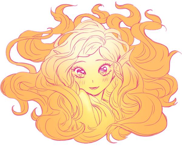 Orange Mermaid by chalii