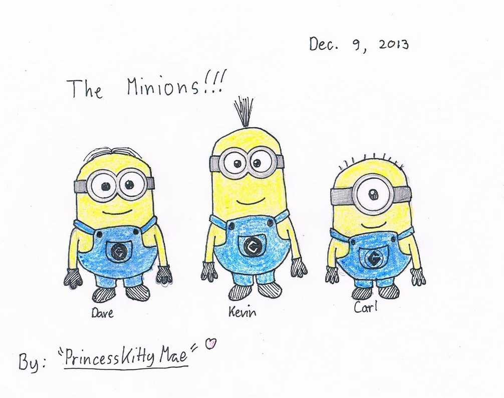 ... minions minion drawing dave despicable me minion drawing step step
