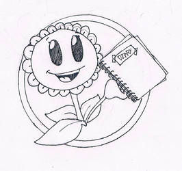 PvZ - Sunflower with a Diary(Commission) by CrazyPlantMae