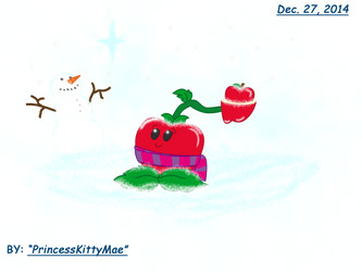 Art Trade - Apple-Pult's Winter Dreaming by CrazyPlantMae