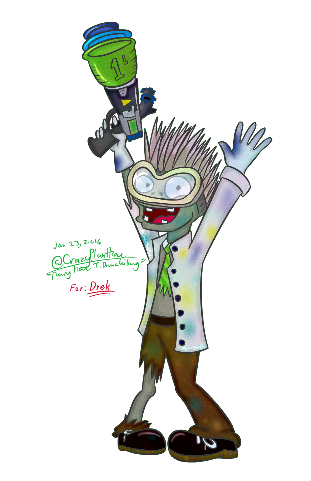 Request from PvZ Wiki - Chemist Zombie(from PvZGW) by