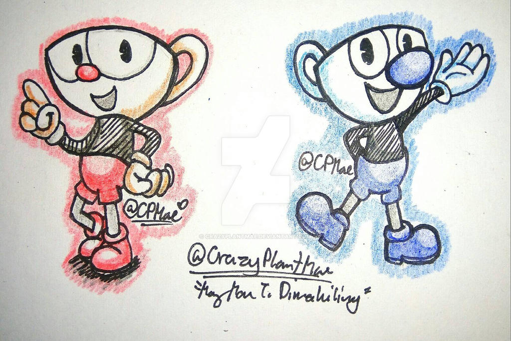 CupHead and MugMan by CrazyPlantMae