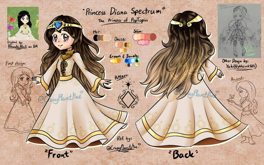Reference Art - Princess Spectrum by CrazyPlantMae