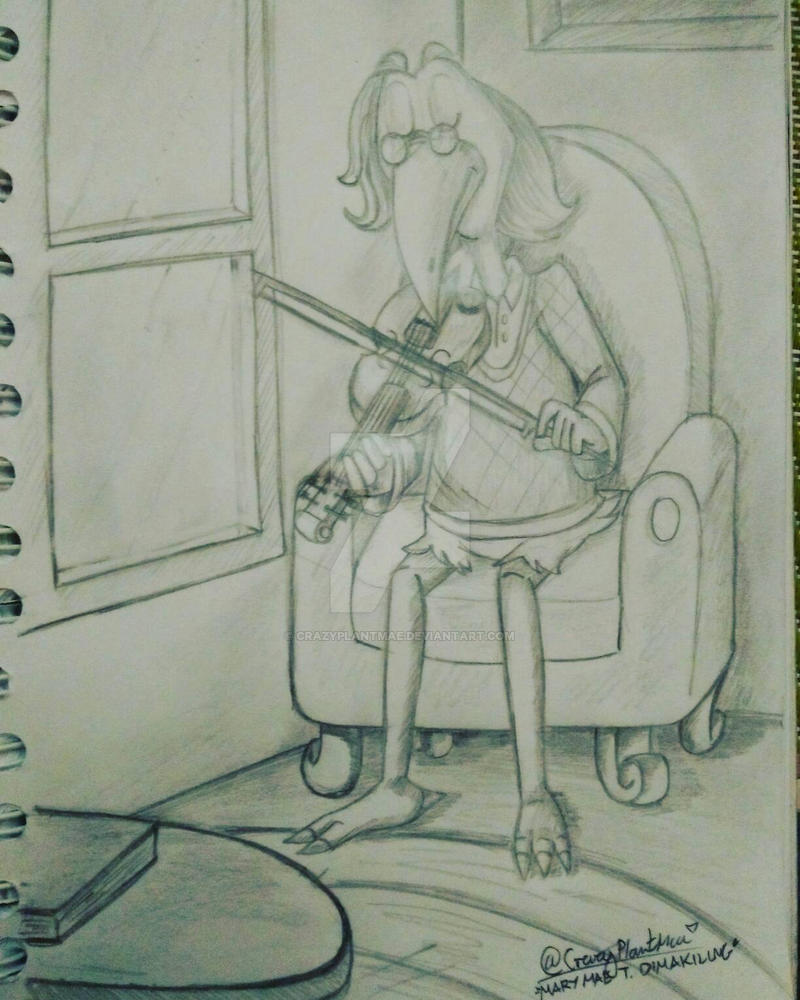 He's playing a Violin  by CrazyPlantMae