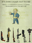 Fallout pull-tab flyer