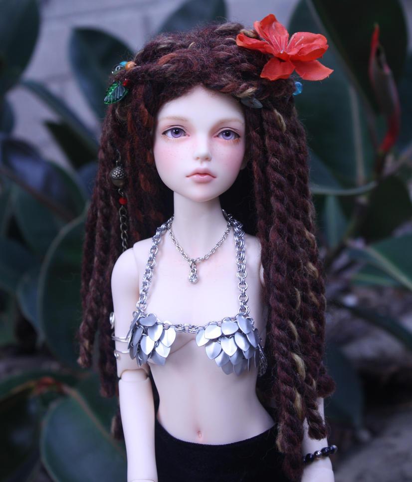 Daenerys Modeling Miniature Scale Mail Bikini Top by Slersk