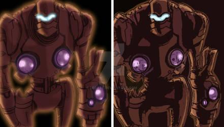Combat Armor Design: colored by Legate