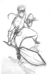 Aiel Warrior Fanart by Legate