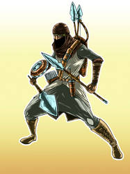 Aiel Warrior Fanart Colored by Legate