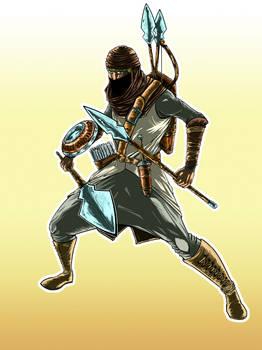 Aiel Warrior Fanart Colored
