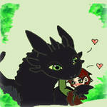 Toothless and Hiccup are BFF