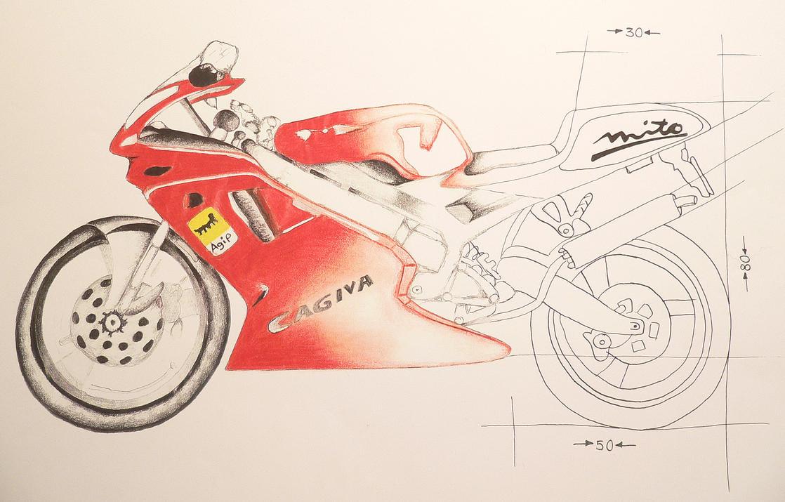 motorcycle cagiva mito by tendertemptation