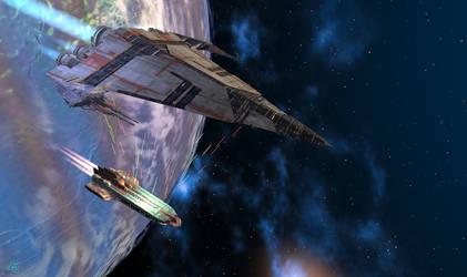 Ship battle by JieF-R