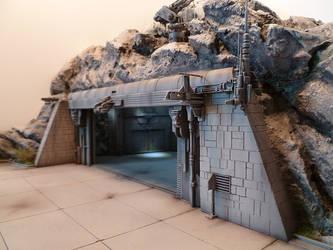 scifi space ship landing zone #3 by JieF-R