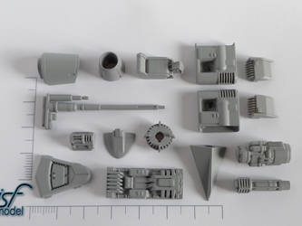 3D Sci-fi printed parts