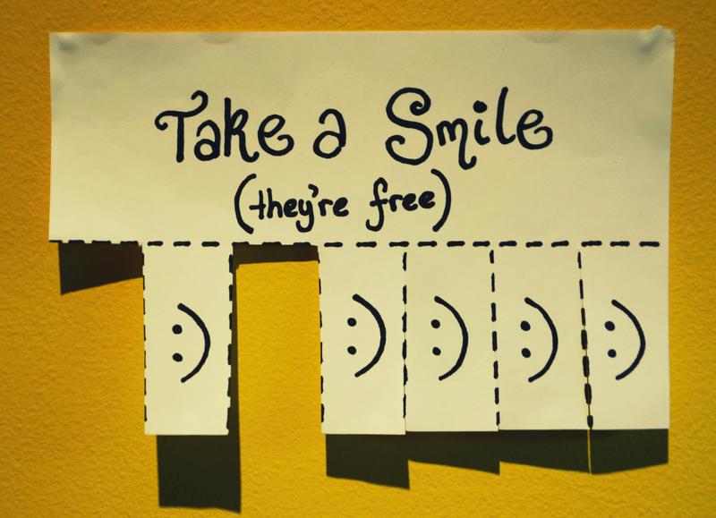 take a smile.