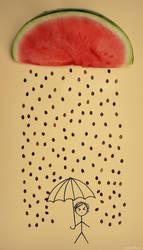 it's raining seeds! hallelujah!