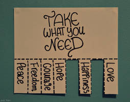 take what you need. by Shutter-Shooter