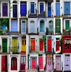 colorful doors, London